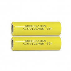 LG LGDBHE41865 3.7V 2500MAH 18650 RECHARGEABLE LI-ION BATTERY - 2 PACK IN CASE