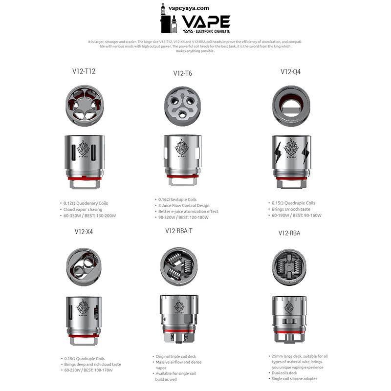 SMOK TFV12 Replacement RBA/T12/T8//T6/Q4/X4 Coil Head Optional