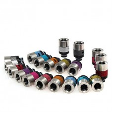 ALUMINIUM, STAINLESS STEEL & DELRIN ADJUSTABLE AIR FLOW WIDE BORE DRIP TIPS