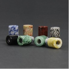STUNNING STONE & STAINLESS STEEL STUBBY 510 DRIP TIPS