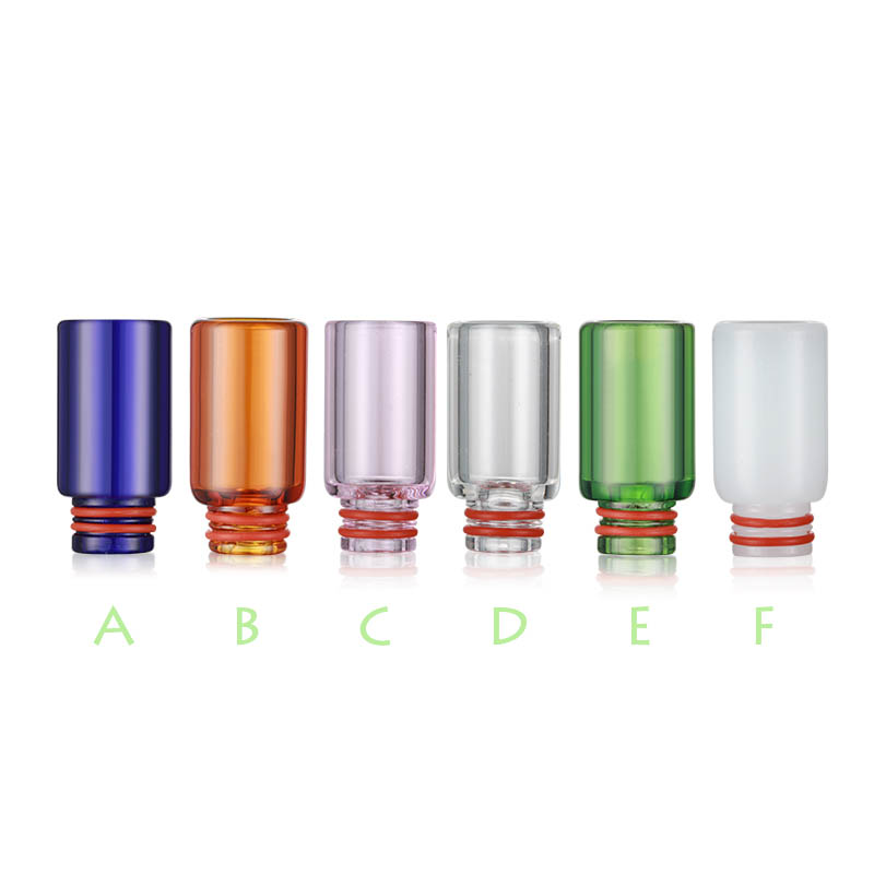 Beautiful Various Color Long Glass 510 Drip Tip