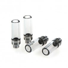 EXTRA LONG GLASS & STAINLESS STEEL WIDE BORE DRIP TIP