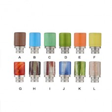 GLASS&STAINLESS STEEL DETACHABLE WIDE BORE DRIP TIPS - COLORFUL