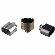 DOUBLE BARRELED 8 STYLE STAINLESS STEEL 510 DRIP TIPS