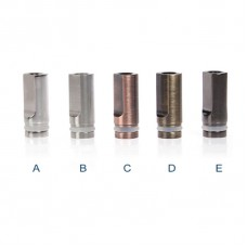 FLAT DESIGN CHROME STAINLESS STEEL METAL DRIP TIP