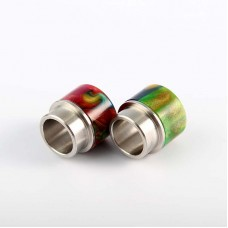 PREMIUM WIDE BORE 810 RESIN STAINLESS STEEL DRIP TIPS FOR 528 KENNEDY GOON RDA