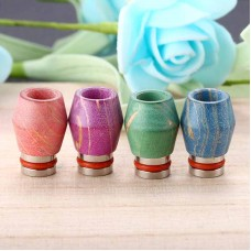 STAINLESS STEEL & WOOD WAVE TEXTURE WIDE BORE DRIP TIPS
