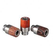 HALF STAINLESS STEEL INSIDE & HALF WOOD 510 DRIP TIPS