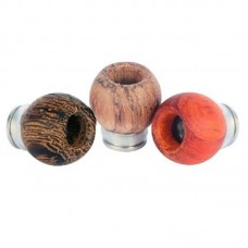 STAINLESS STEEL & WOOD BOWL DESIGN WIDE BORE DRIP TIPS