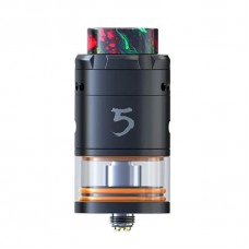 IJOY RDTA 5 ATOMIZER  -  BLACK OR SILVER OPTINOAL