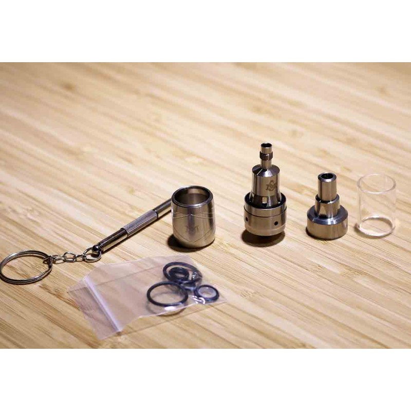 SS316 KAYFUN MINI V3 STYLE RTA WITH STAINLESS SLEEVE