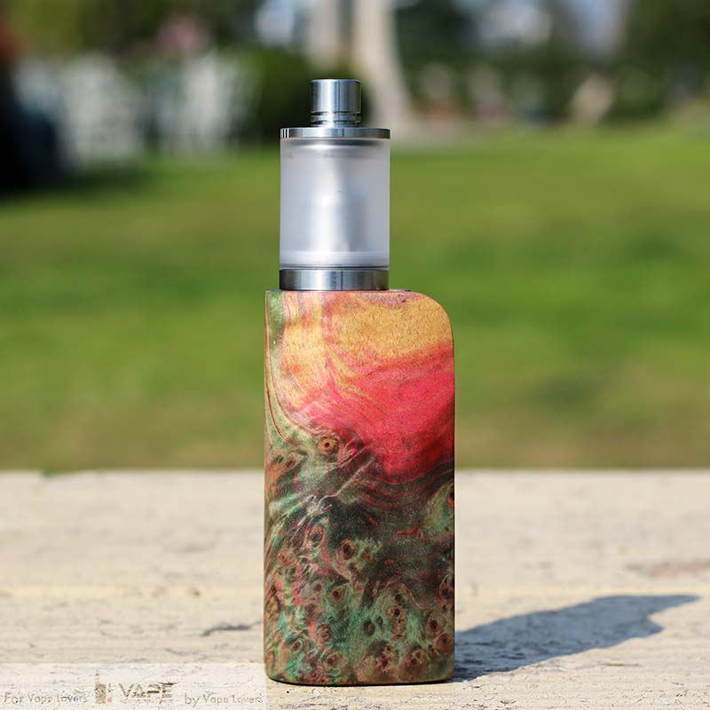 EVOLV DNA 75 CHIP STABILIZED WOOD BOX MOD - YILOONG FOG BOX