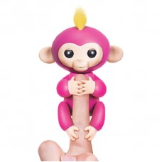 INTERACTIVE BABY MONKEY FINGERLINGS PET ELECTRONIC KID TOY - SMART MONKEY - RED