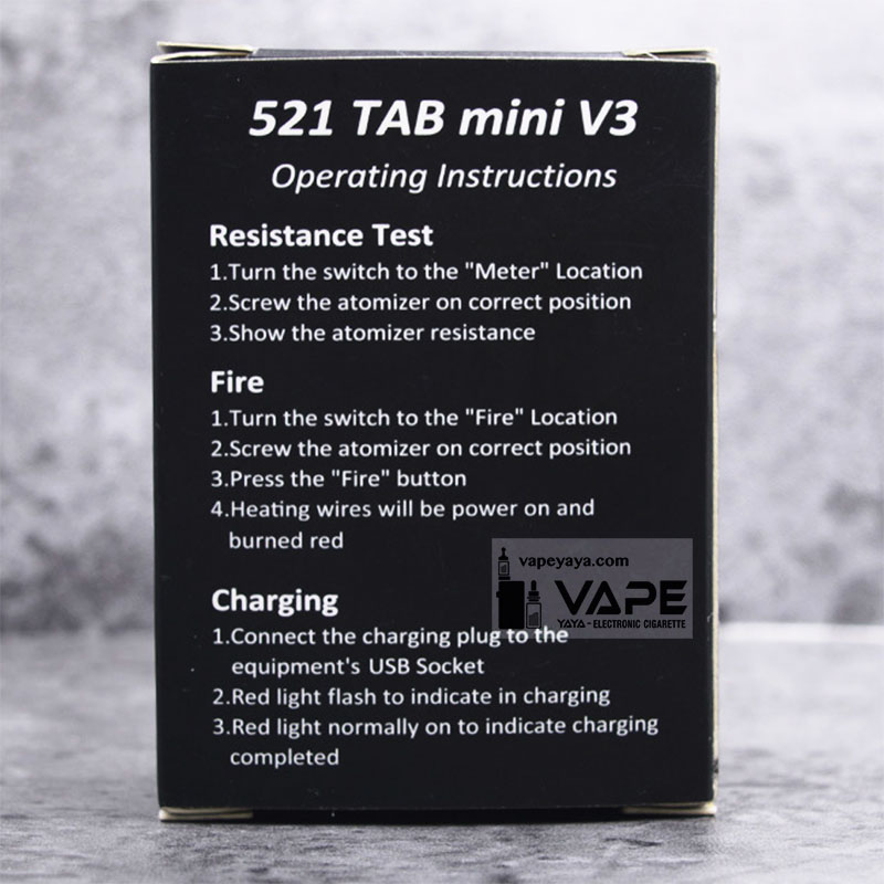 521 TAB MINI V3 STYLED ATOMIZER RESISTANCE TESTER METER