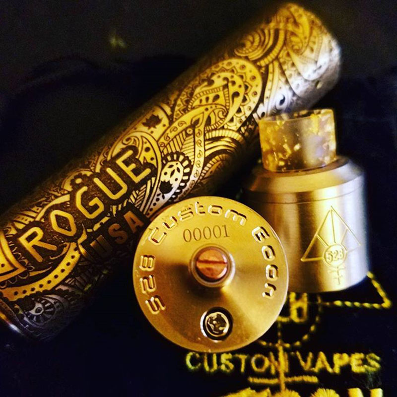 Rogue Paisley 24mm Mod Deeply Engraved
