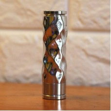 AVID LYFE STYLE ALUMINUM DIMPLE GYRE MECH MOD - WITH HUTCHISON DESIGNS LOGO