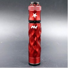 AVID LYFE BURNNING RED APPLE DIMPLE GYRE MECH MOD KIT