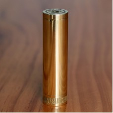 BROADSIDE STYLE 18650 MECHANICAL MOD - BRIGHT POLISHED BRASS