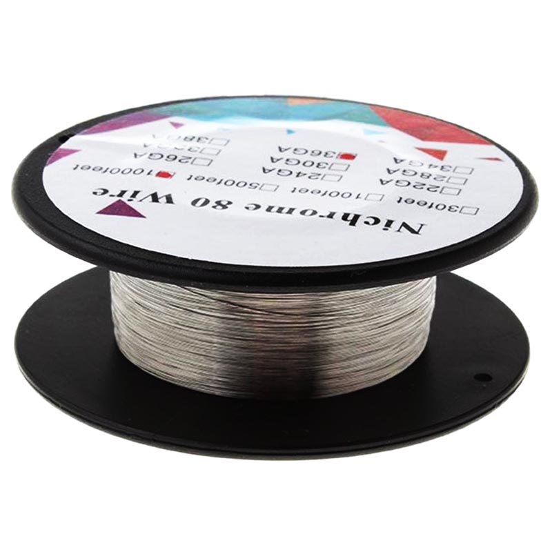Premium Nichrome 80 Heating Wire 500ft 1000ft optional for RBA