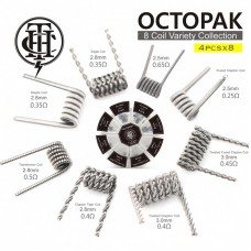 THUNDERHEAD OCTOPAK PRE-BUILE COILS BOX - TRANSFORMER STAPLE CLAPTON TIGER COILS  (8 MODELS, 4 PCS EACH)