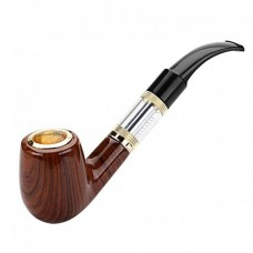 E-PIPE 618 KIT - AUTOMATIC E-CIGARETTE SMOKING VAPE WOOD PIPE - 2.2ohm