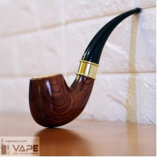 E-PIPE 668 KIT - AUTOMATIC RECHARGEABLE E-CIGARETTE SMOKING VAPE PIPE - 1.2OHM - BRAZILIAN ROSEWOOD