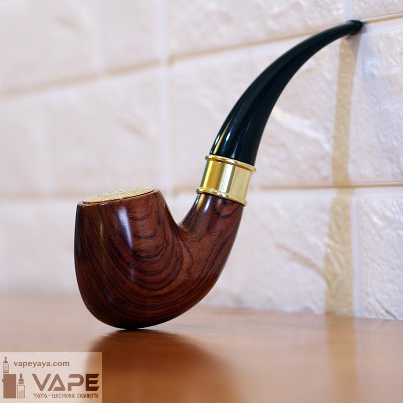 E Pipe 668 Kit Automatic Rechargeable E Cigarette Smoking Vape Pipe 12ohm Brazilian Rosewood